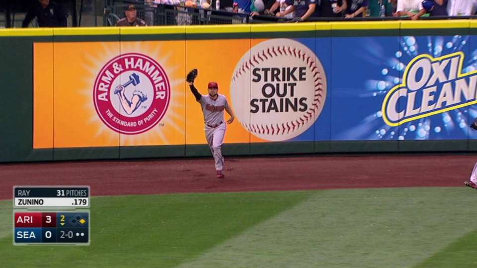 Inciarte's catch at the wall