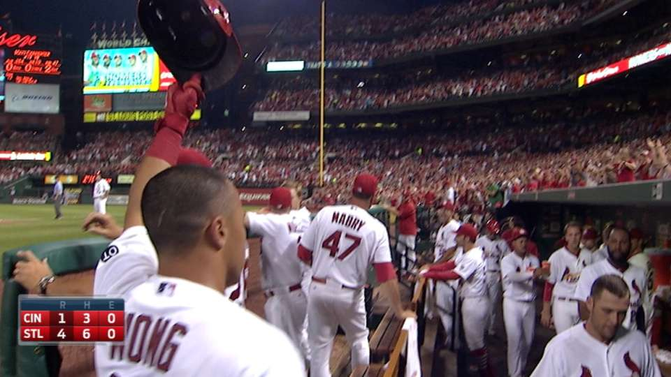 Wong on slam, Cards' win