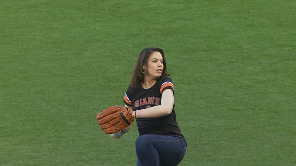 Jessica Learn's first pitch