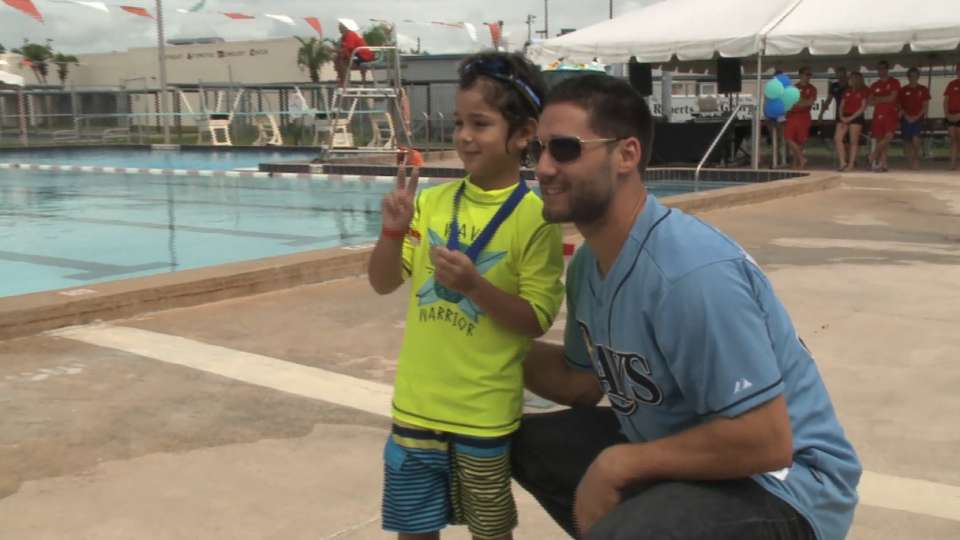 Kiermaier promotes water safety