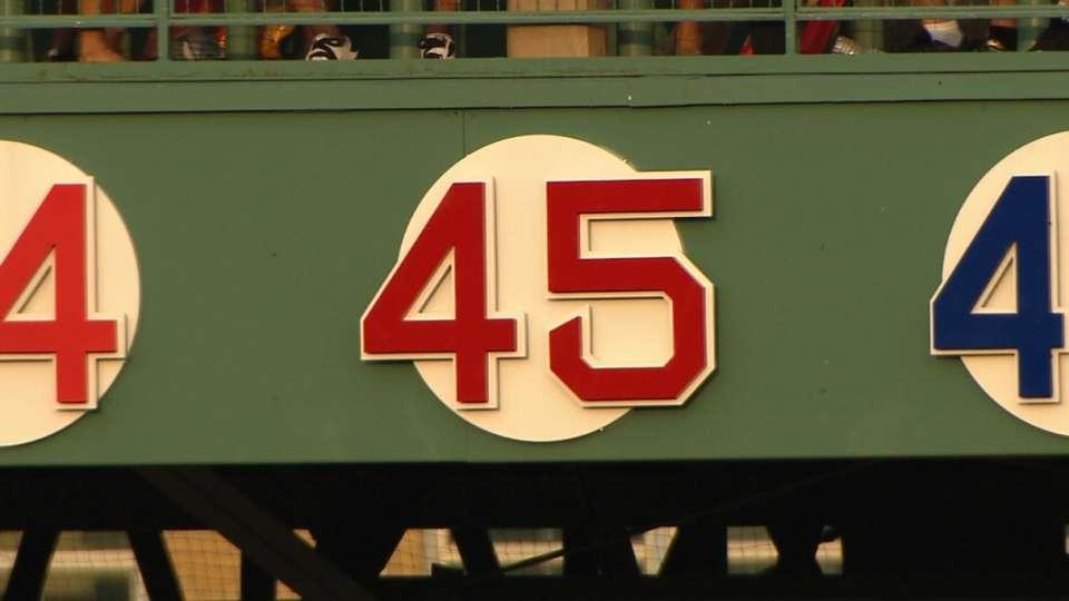 Red Sox retire Pedro's No. 45