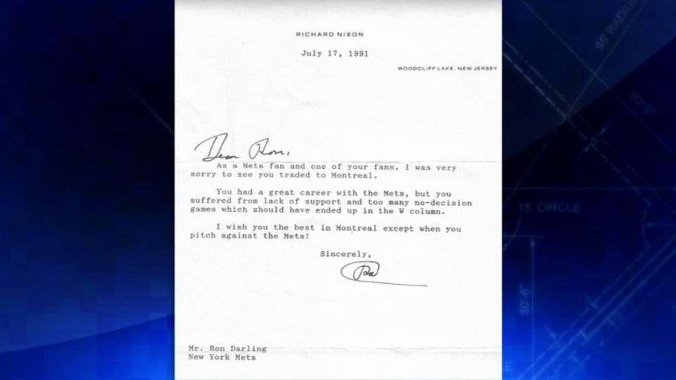 Richard Nixon's note to Darling