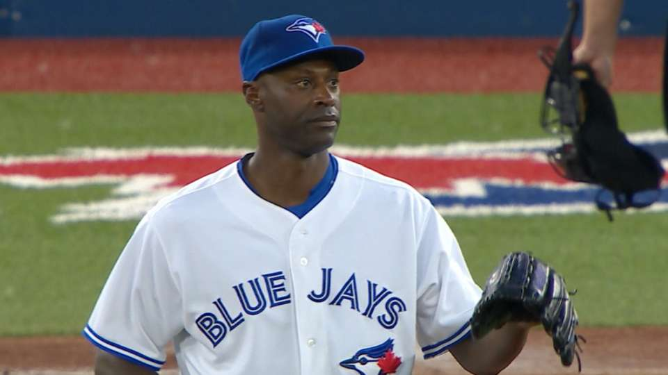 Hawkins' debut with Blue Jays