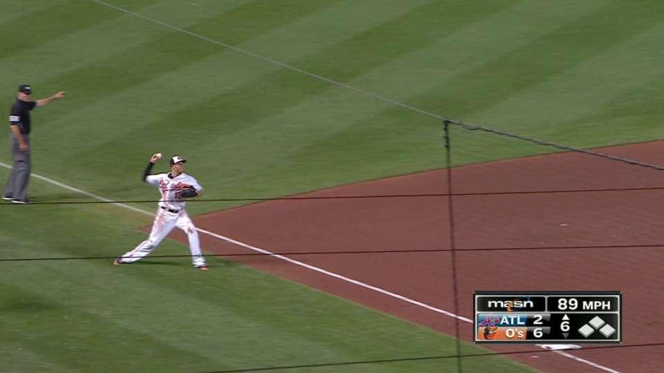 Machado's impressive throw