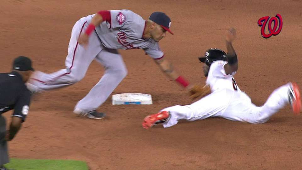 Ramos throws out Hechavarria