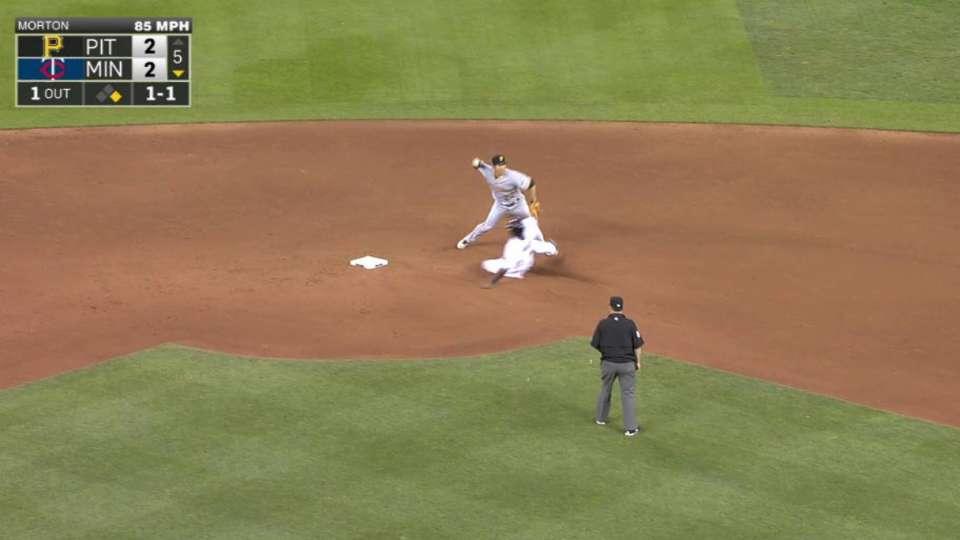 Walker, Kang turn double play