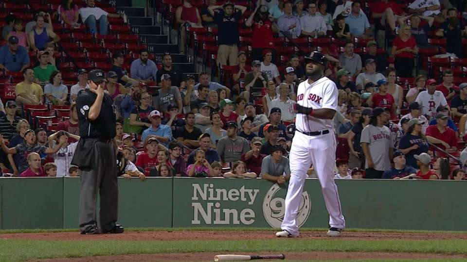 Papi scores on double play
