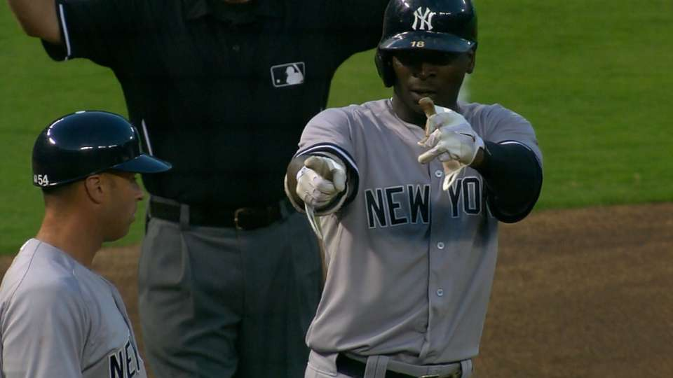 Yanks score 11 in the 2nd