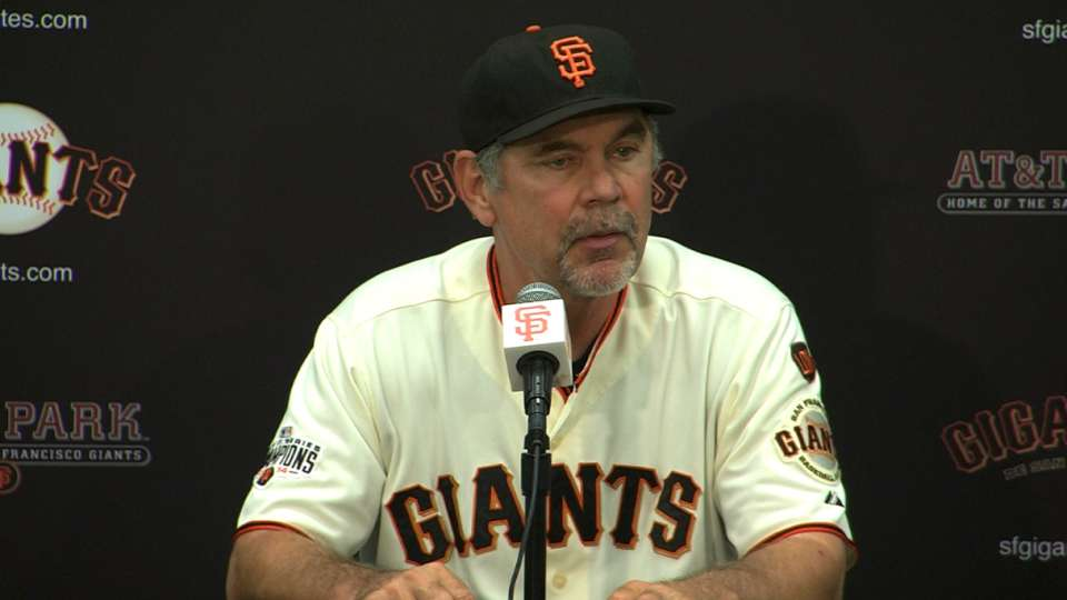 Bochy on loss to the Brewers
