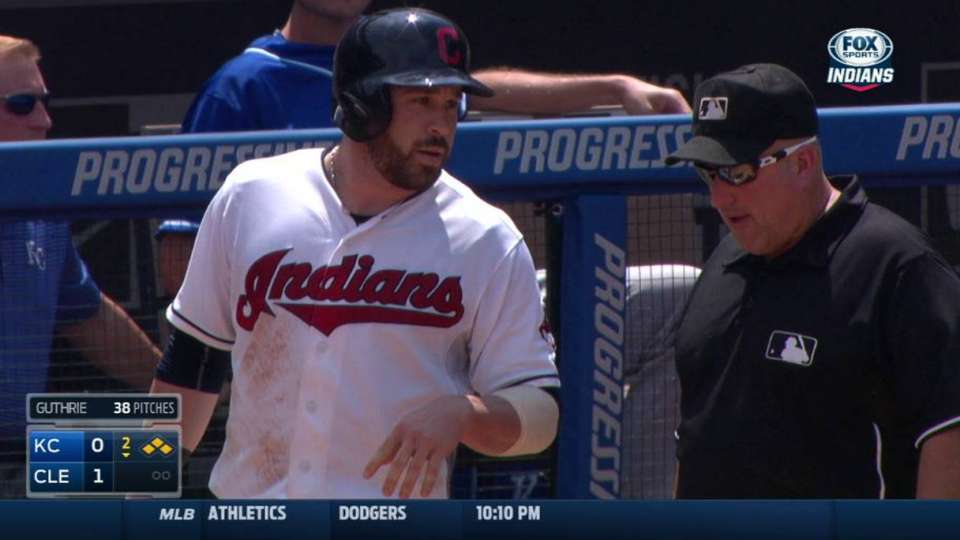 Kipnis is hit by pitch