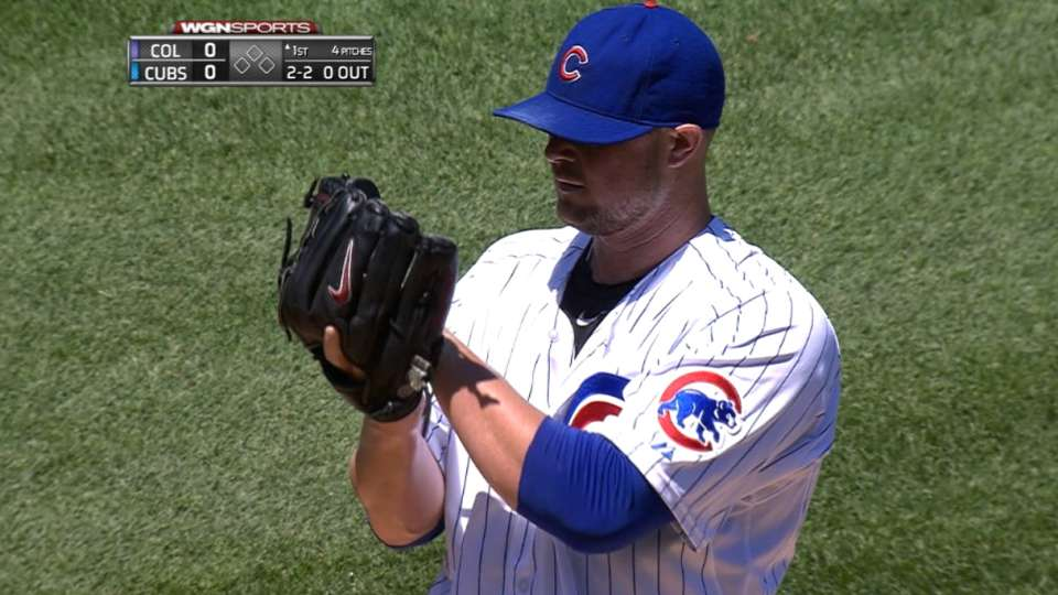 Lester strikes out 14