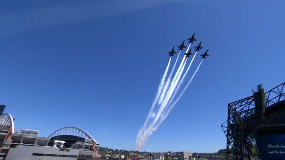 Blue Angels fly over Safeco