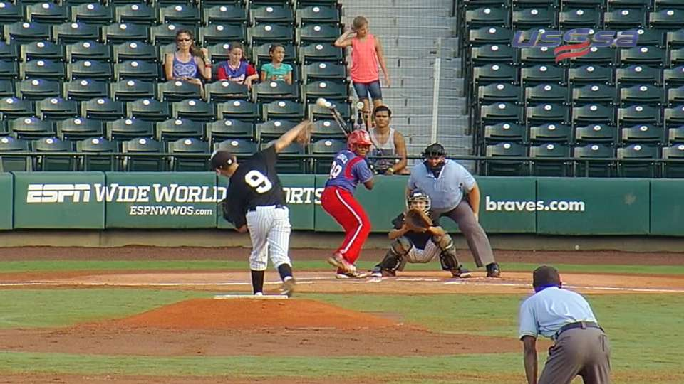 Flores' four strikeouts