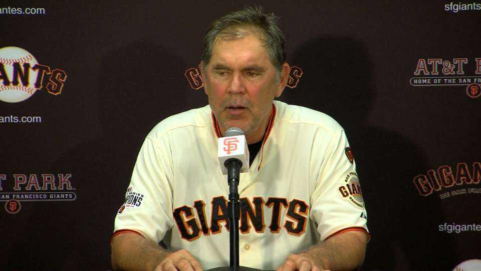 Bochy on win against the Brewers