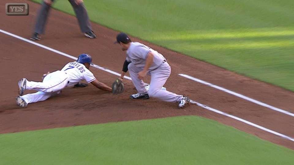 Tanaka picks off DeShields