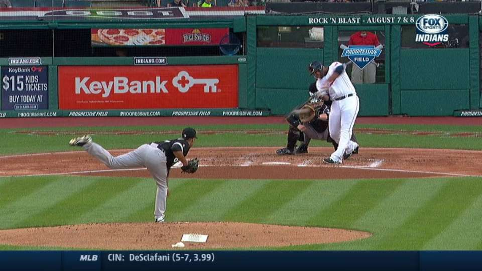 Aguilar's first hit of 2015