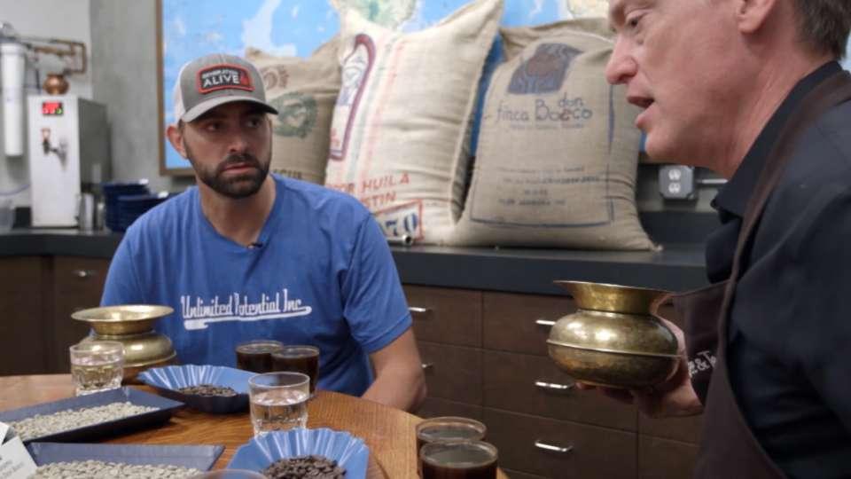 Affeldt visits Peet's Coffee