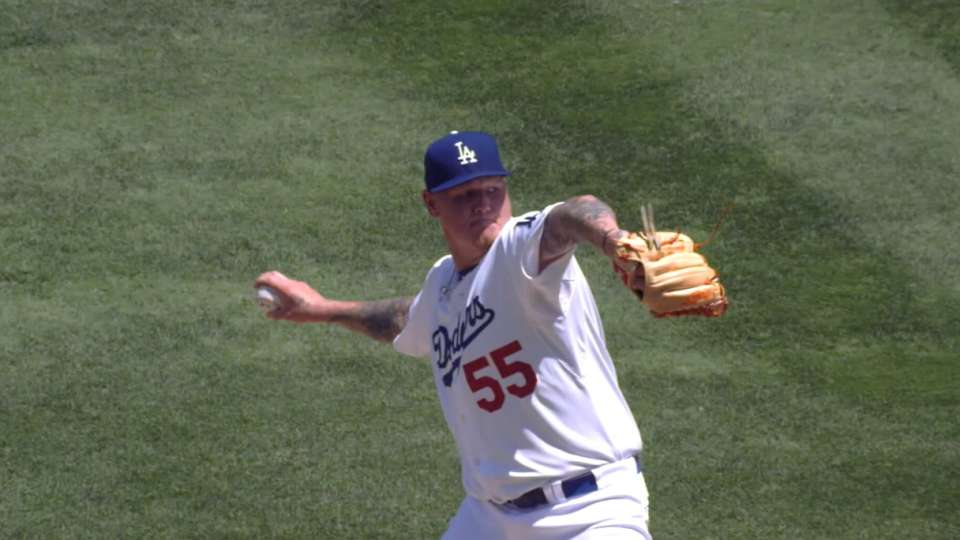 Latos strong in Dodgers debut