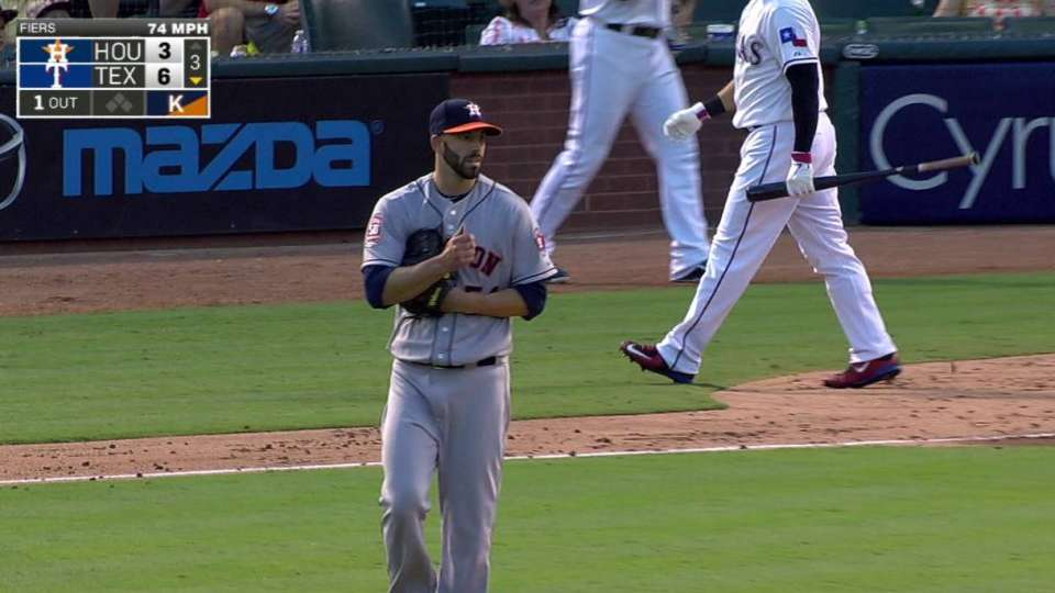 Fiers' first Astros strikeout