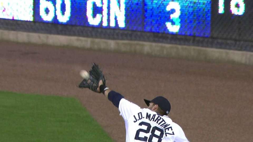 Martinez's running catch