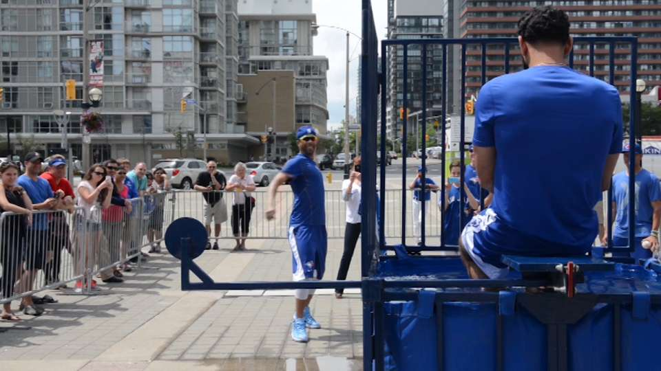 Blue Jays' Ice Bucket Challenge