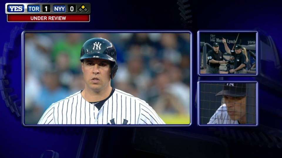 Teixeira homers after review