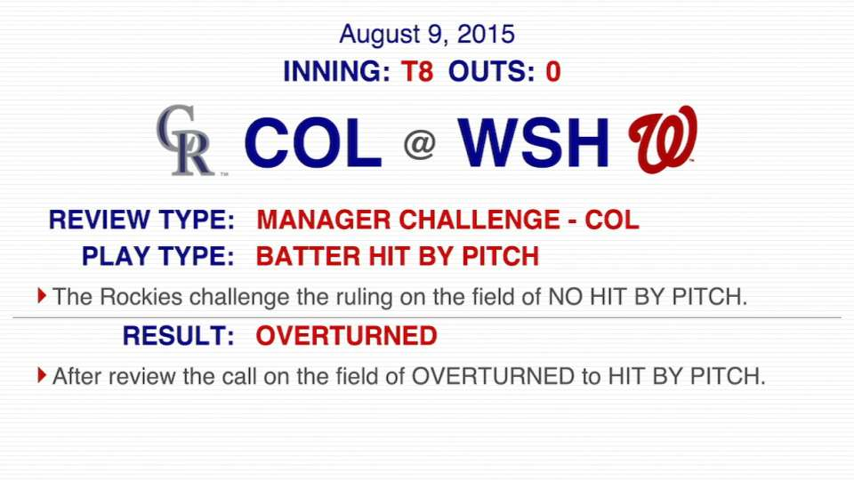 Foul call overturned in the 8th