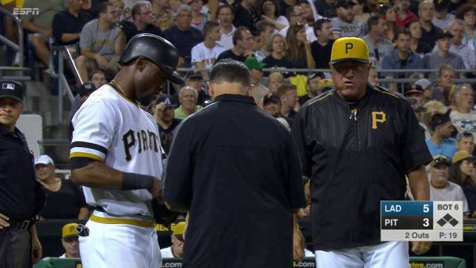 Marte hit by a pitch
