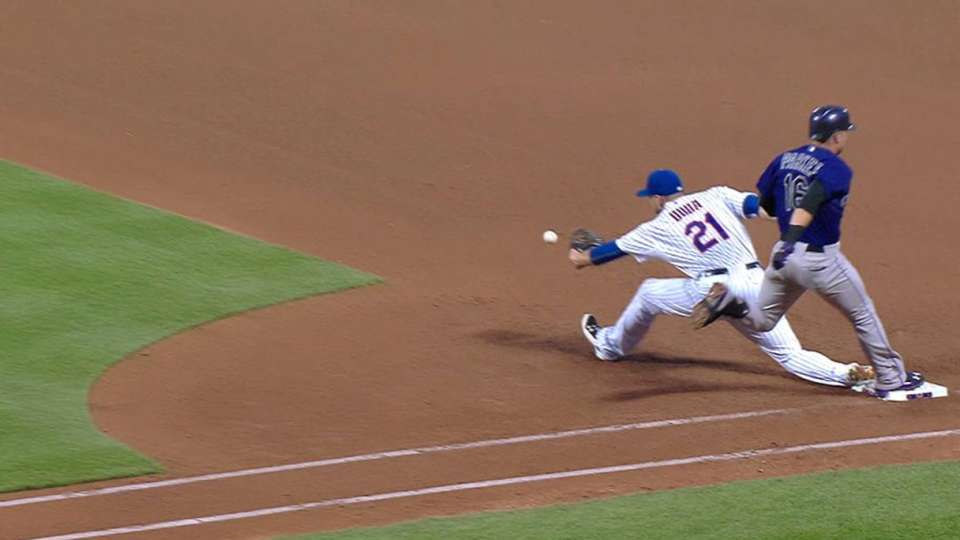 Parker safe at first on review