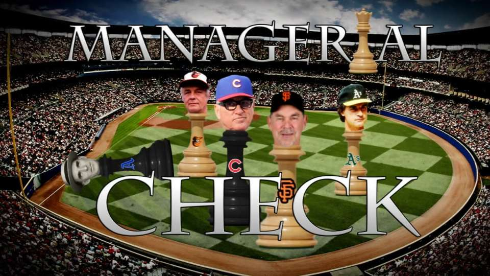 Managerial Check on MLB Now