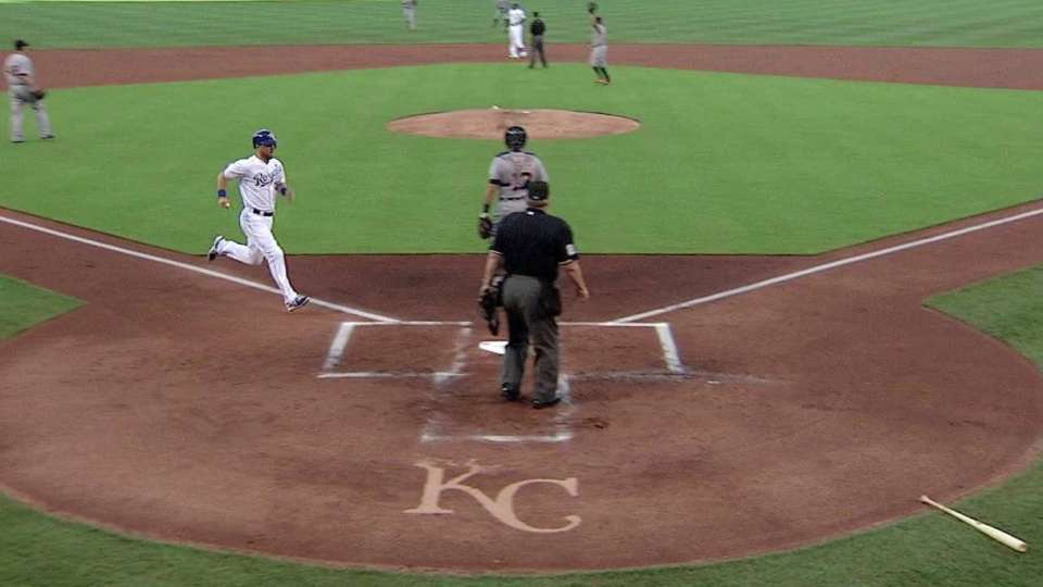 Cain's two-run double