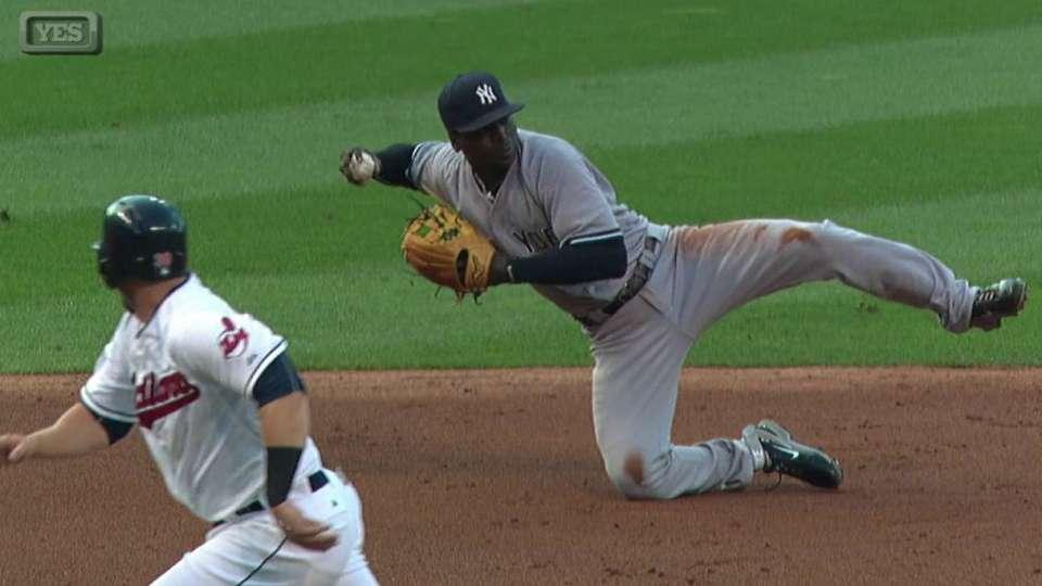 Yankees turn double play