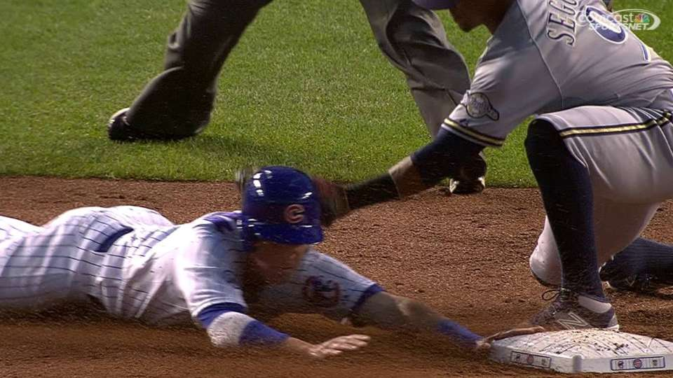 Coghlan steals second on review