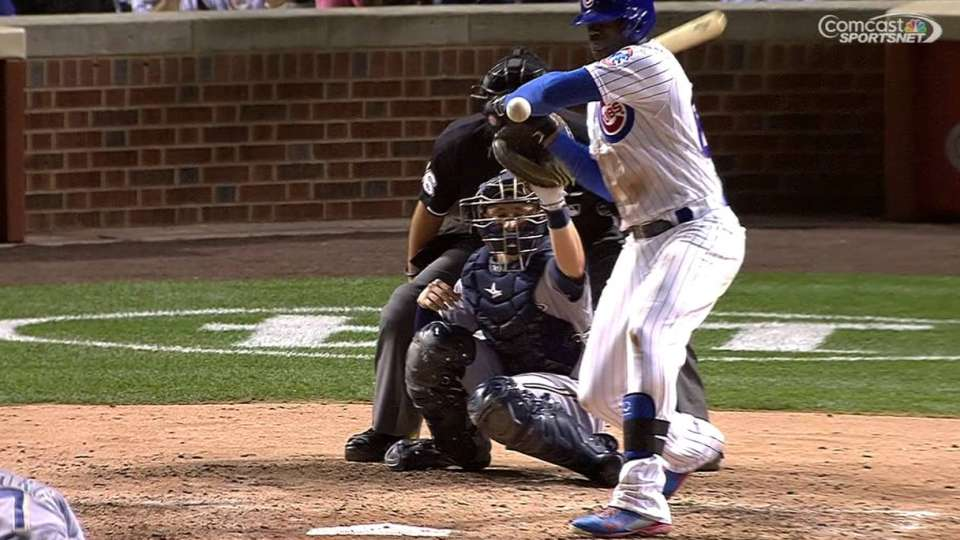 Soler's RBI hit-by-pitch