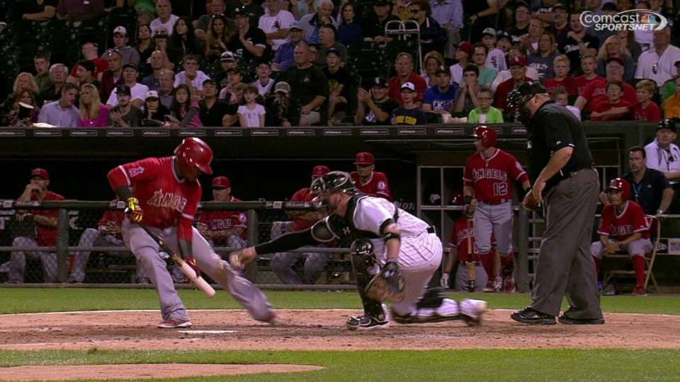 Aybar tagged out, call stands