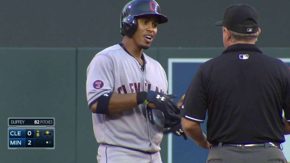 Lindor breaks up no-hitter