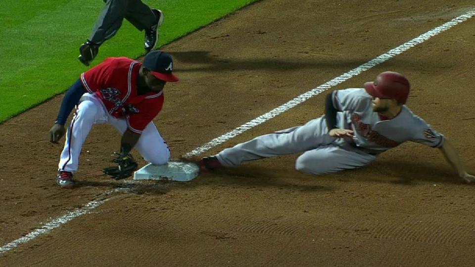 With Paul Goldschmidt batting, Ender Inciarte steals (12) 3rd base.  A.  J.   Pollock steals (29) 2nd base.