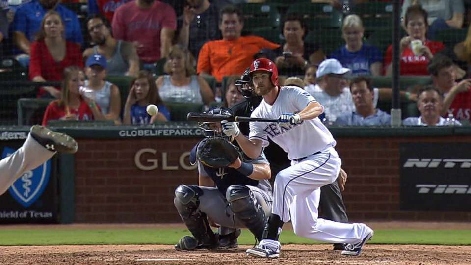 Strausborger's bunt hit in 9th