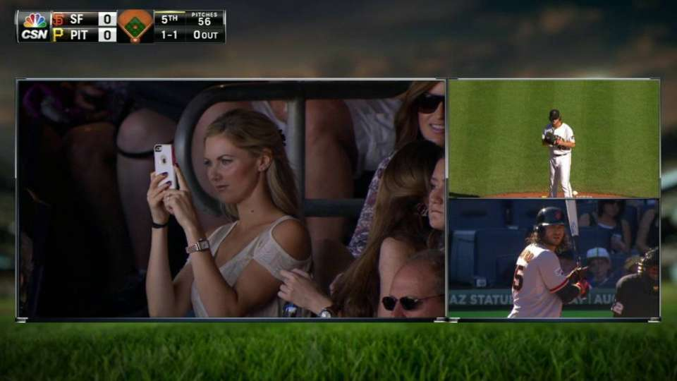 Crawford's sister takes in game