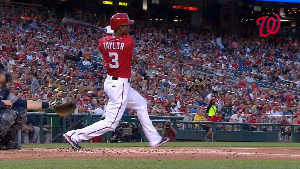 Taylor homers in three straight