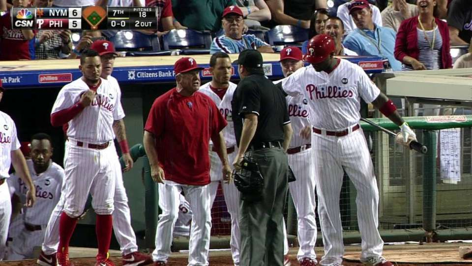 Bowa tossed as benches clear