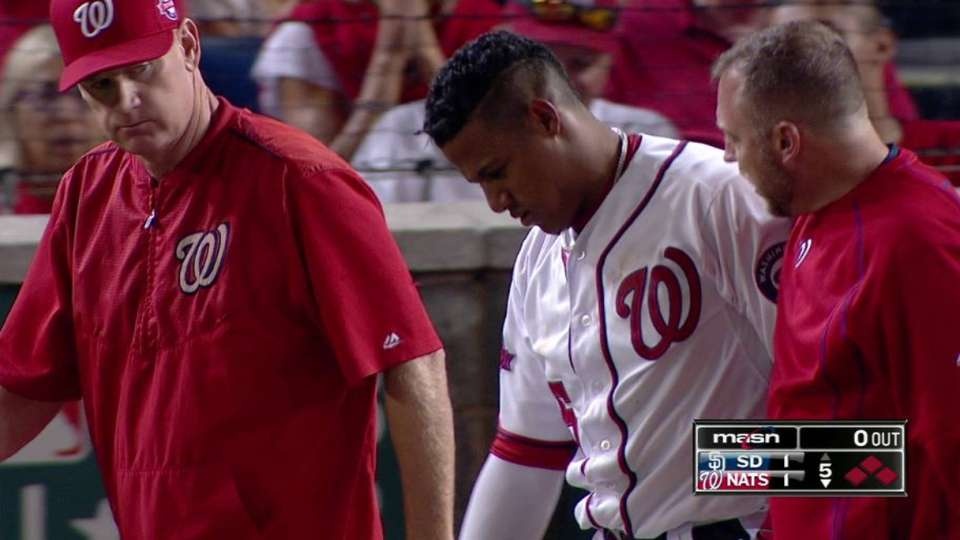 Werth scores on hit-by-pitch