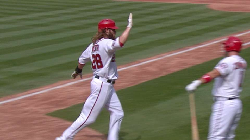 Nats take lead with three in 5th