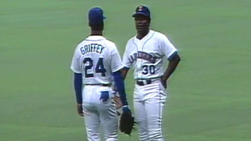 071b098520 In 1990, the Griffeys became the first father and son to play in the same  Major League lineup | MLB.com