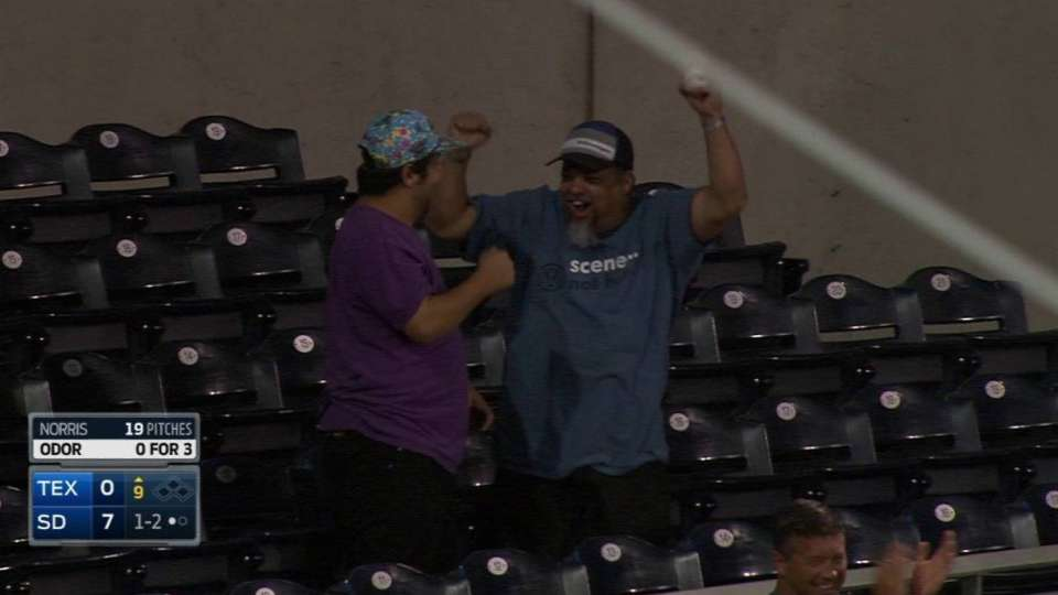 Fan comes away with foul ball