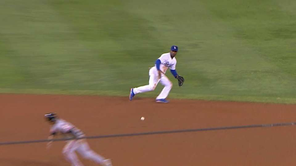 Rollins saves run with nice stop