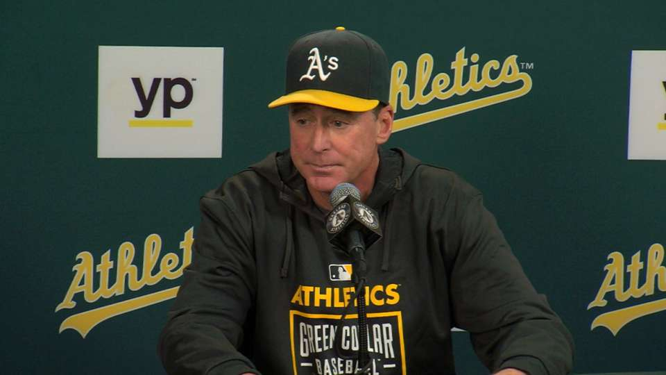 Melvin on Doubront, A's win