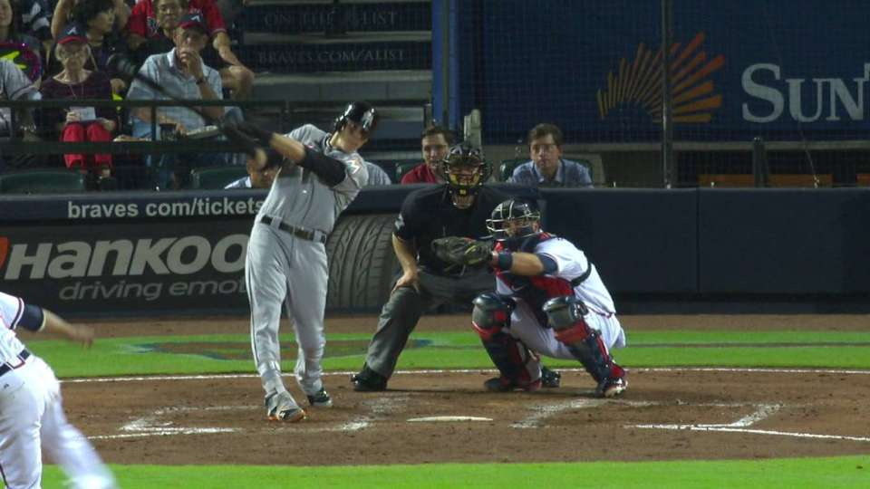 Yelich's RBI double