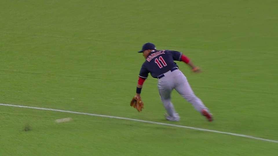 Ramirez's backhanded play