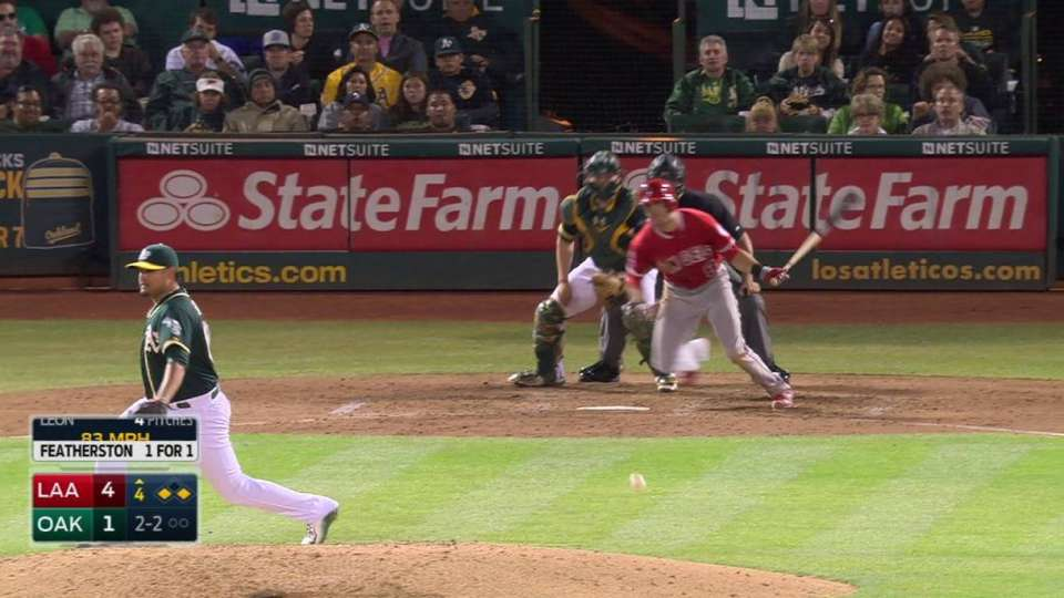 Freese scores on double play
